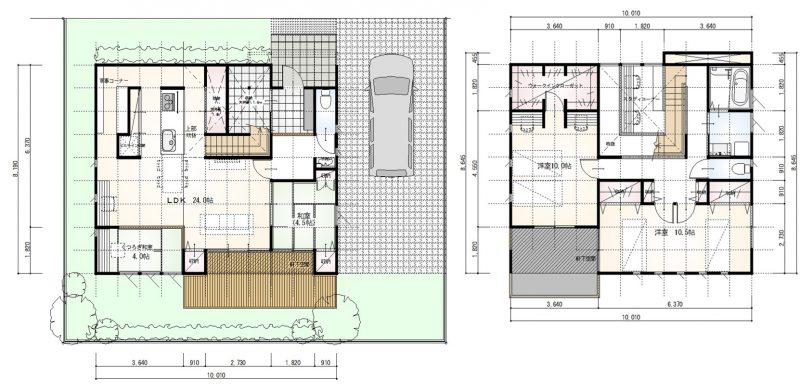 スキップフロアと大収納の家